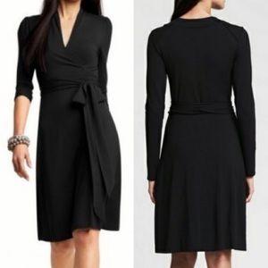 Banana Republic Black Wrap Dress Sz S